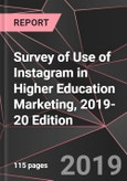 Survey of Use of Instagram in Higher Education Marketing, 2019-20 Edition- Product Image
